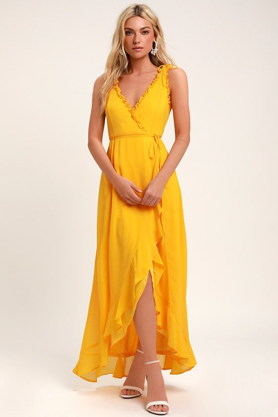 what to wear on a date bold yellow dress